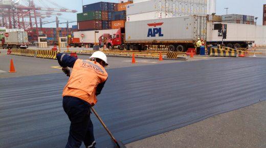 Aplicação TL-2000 asfalto aeroporto porto