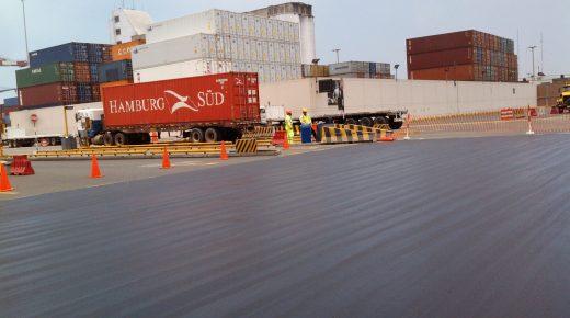 Pós aplicação TL-2000 asfalto aeroporto porto