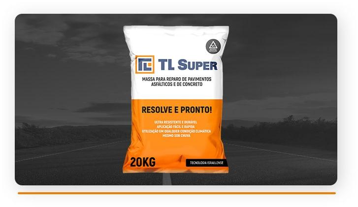 Massa para reparo de pavimentos asfálticos e de concreto TL-Super